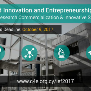 2017 Innovation and Entrepreneurship Forum (IEF2017) Research Commercialization – Innovative startups – Πανεπιστήμιο Κύπρου, 28 Νοεμβρίου 2017