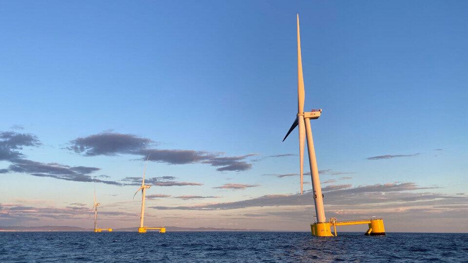 EDP: Το πλωτό αιολικό πάρκο WindFloat Atlantic ξεπέρασε τις 75 GWh στο πρώτο έτος λειτουργίας
